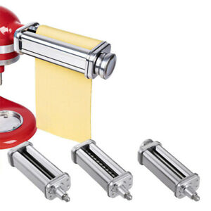 Stainless Steel Pasta Roller & Cutter Set Attachment for Kitchenaid Stand Mixers
