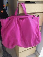 BOTTEGA VENETA Hot Pink woven Stitch Maxi Hobo Leather Bag, sleeper and tags