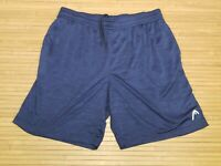 Head Blue Heathered Athletic Pocketed Shorts Mens Size XL