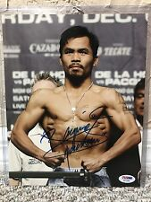 MANNY PACQUIAO SIGNED AUTO 8 X 10 BOXING PHOTO Weigh-In PSA 176