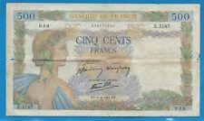 Gertbrolen 500 Francs LA PAIX du 11-6-1941 X.3187