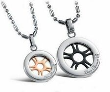 Stainless Steel Crystal Costume Necklaces & Pendants