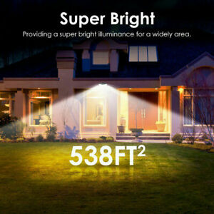 Waterproof 100 LED Solar Powered Light Outdoor PIR Motion Sensor Garden Security