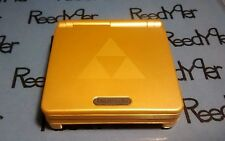 Gold Zelda Gameboy Advance SP *MINT* Triforce Nintendo system AGS-001 w/ charger