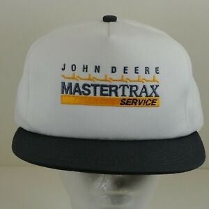John Deere Mastertrax Service Hat Cap Embroidered USA Adjustable Snapback