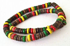 ETHNIC REGGAE RASTA  SURFER COCO WOOD NECKLACE CHOKER   N0498