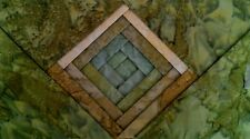 "Batik Fabric - 40 - 5 "" Charm Squares - Olive Mix - Free AU Post !!"