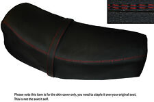 RED DS ST CUSTOM FITS JAWA CZ 125 175 1976 DUAL LEATHER SEAT COVER