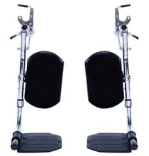 1 PAIR INVACARE GT95HC ELEVATING LEG REST WITH FOOTPLATE FOR STANDARD WHEELCHAIR
