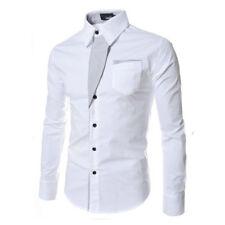 Luxury Men's Stylish Casual Dress Shirt Slim Fit T-Shirt Long Sleeve Formal Tops