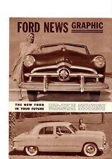 1949 FORD Brochure: CUSTOM,TUDOR,COUPE,CONVERTIBLE,STATION WAGON,SEDAN,