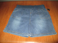 New Womens Size Large L New Additions Blue Jean Shorts Maternity Stretch Denim