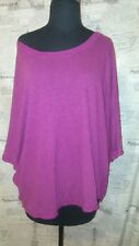 Lane Bryant Linen Blend Purple Dolman Sleeve Batwing Loose Fit Shirt Top 22/24