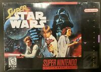 Super Star Wars SNES Brand New Factory Sealed Nintendo Complete CIB Hang Tab