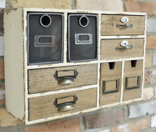 Wooden Industrial Wall Unit Cabinet Multi Drawers