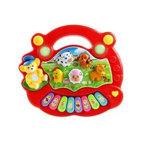 Spielzeug Klavier Musik Cartoon Tiere Elektronisch Instrument Baby Bauernhof Rot