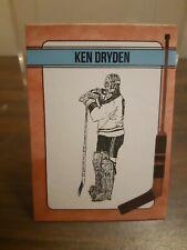 Ken Dryden Artist Designed Original Hockey Card