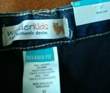 Wonderkid Relaxed Fit Fleece Lined Adustable Waist Jeans 3 Toddler Brand NEW