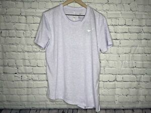 Nike Women Dri-Fit Light Purple Miler Running Cinched Shirt Size Large NEW