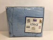 ideal linens striped bed sheets 4 piece king light blue
