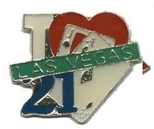 Hat Lapel Push Pin Tie Tac City Las Vegas 21 NEW