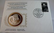 400TH ANNIV. OF BIRTH OF RUBENS, GERMANY, Postmasters STERLING SILVER COIN, FDC