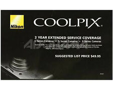 NIKON Extended 2 Year Warranty For Coolpix Cameras S7000 B500 B700 P900 L840