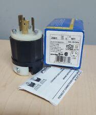 Leviton 2361 20 Amp, 125/250 Volt, NEMA L10-20P, 3P, 3W, Locking Plug,