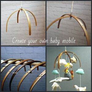Create your own Wooden Baby Mobile Cot Mobile Hanger Nursery decor Crib Mobile