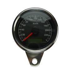 Elektronischer Mini Tachometer mit schwarzen Ziffernblatt für Harley Modelle