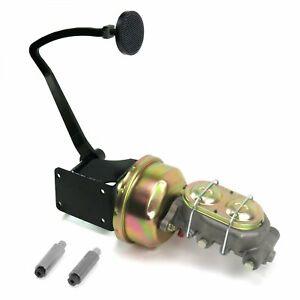 47-54 Chevy Truck 8 Single Brake Pedal kit Drum/Drum3in Blk Pad rod rat master
