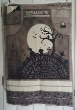 come sit a spell Halloween apron panel with coordinating lining fabric