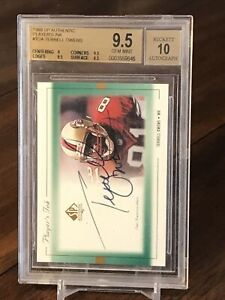 1999 SP Authentic TERRELL OWENS AUTO BGS 9.5/10 Players Ink Gem Mint Signed