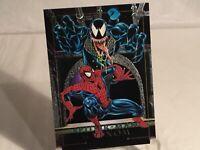 Spiderman vs Venom 1992 Skybox Marvel Masterpieces Battle Spectra 4D
