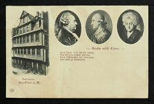 GERMANY 626-FRANKFURT -Goethehaus. Goethe nebft Eltern.