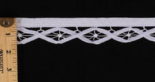 "White Battenberg Lace Renaissance Trim Edging By the Yard - 1"" Wide (M410.09)"