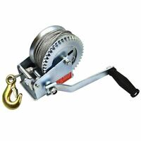 1200 lbs H/DUTY Hand Gear Winch 20m Cable For Car/Boat/Trailer etc TD023