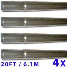 """6.1m Alu Gestanzter Mast Set Ineinandergreifend Stange 4x1.5m 5' x 2"""" 51mm OD"""