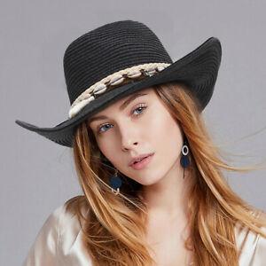 Women Cowboy Hat Lady Beach Shell  Tassels Hat Straw Hats Sun Caps