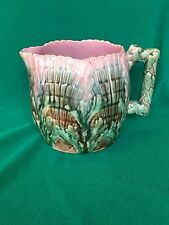 RARE Antique ETRUSCAN Majolica GRIFFIN SMITH HILL Shell & Seaweed Cream Pitcher