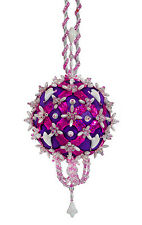 The Cracker Box Mistletoe and Holly Purple with Fuscia Accents Xmas Ornament Kit