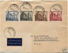 POLAND, AIR MAIL, ANNULS NIEPOLOMICE, AUG 1951, 4 STAMPS POCZTA POLSKA     m