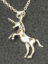 "Unicorn 3D Horse Charm Tibetan Silver 18"" Necklace"
