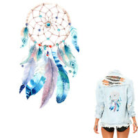 Feather dream catcher Iron on Stickers Washable Heat Transfer Patches Appli Gh