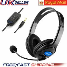 3.5mm Gaming Headset Mic Stereo Headphones for PC Mac Laptop Ps4 Ps3 Xbox One PA