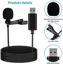Lavalier Mikrofon Ansteckmikrofon Clip-On Microphone Omnidirectional USB DHL