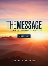 The Message : The Bible in Contemporary Language (2016, Hardcover, Large Type / large print edition)