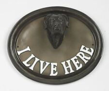 "Wall Or House Sign Bulldog ""I Live Here"""