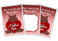 Valentine's Day Thank You Cards - Bear with Heart - Pack of 10 by Party Decor
