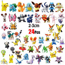 Random -24pcs/set Pikachu Pokemon Mini Action Figure 2-3cm Pocket Monster Toys